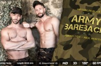 VR Porn Army bareback with Bruno Fox, Nick North