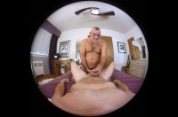 VR Porn Daddy Russ Gives You a Blow Job with Alpha Axxxel, Daddy Russ